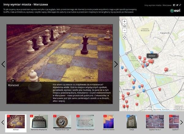 Rys. 2. Aplikacja Story Map.