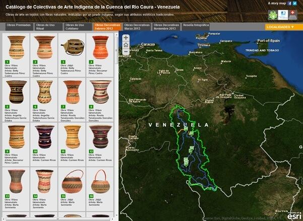 Rys. 3. Story Map związana z tradycyjnym rękodziełem artystycznym jednego z regionów Wenezueli.