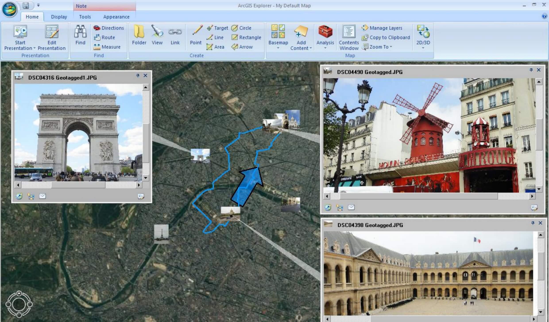 Prezentacja mapy w ArcGIS Explorer