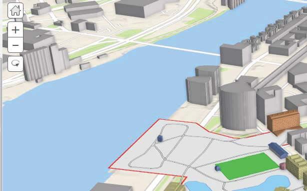 Analizy sieciowe: Wizualizacja w Esri City Engine