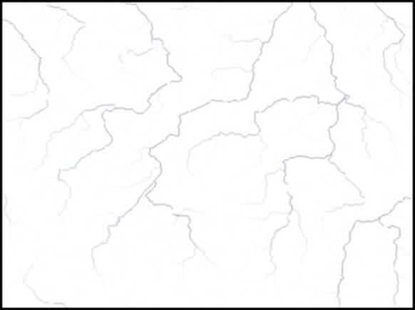 Rys. 2. Mapa rastrowa akumulacji przepływu.