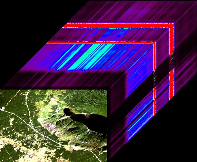 Teledetekcja: Wizualizacja danych hiperspektralnych data cube