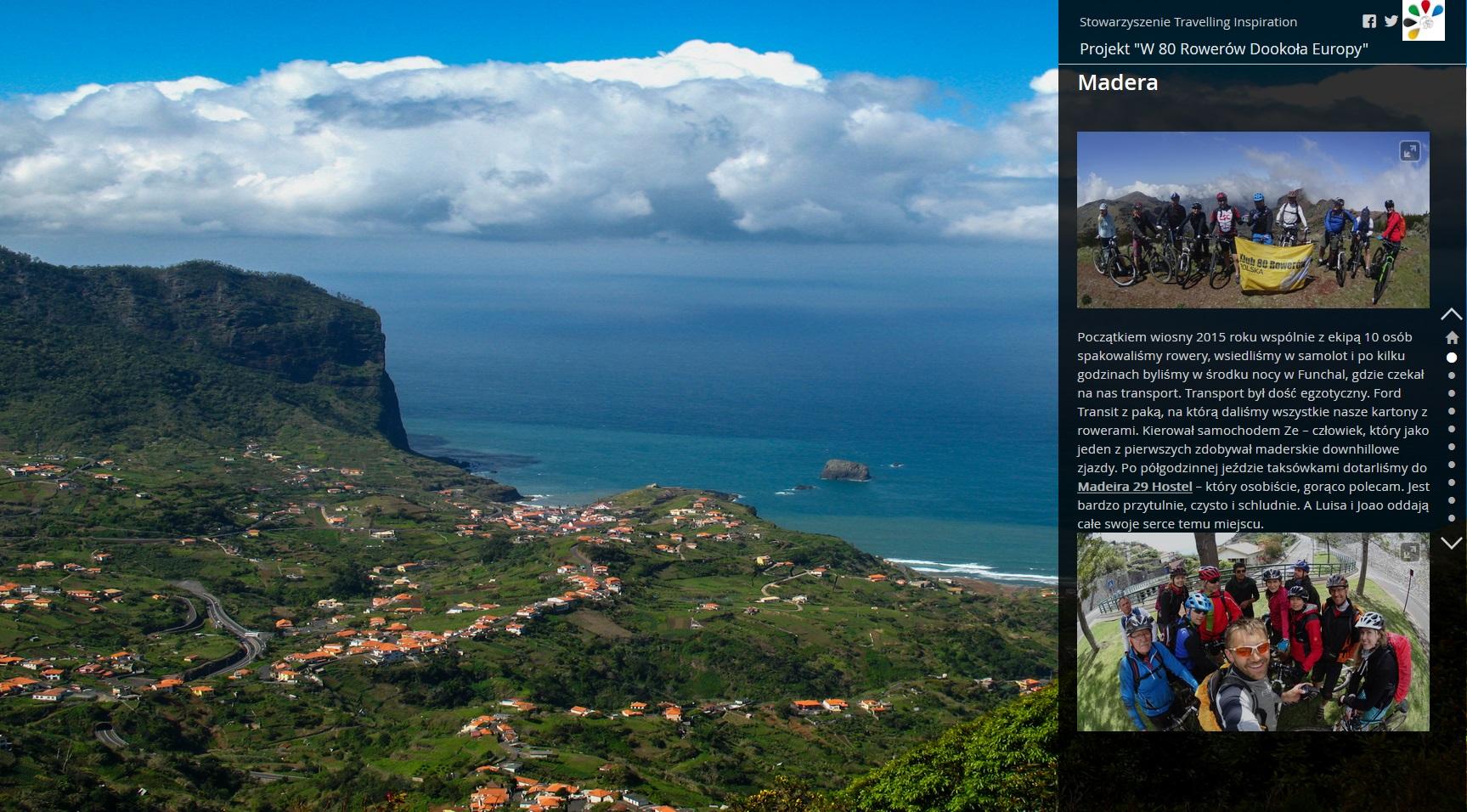 Rys. 1. Zrzut z aplikacji Map Journal Esri, w której opisana została wyprawa na Maderę w kwietniu 2015 roku – www.80rowerow.pl/madera