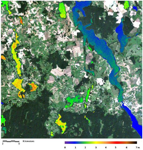Zastosowanie teledetekcji: Rozkład przezroczystości wód jezior mazurskich