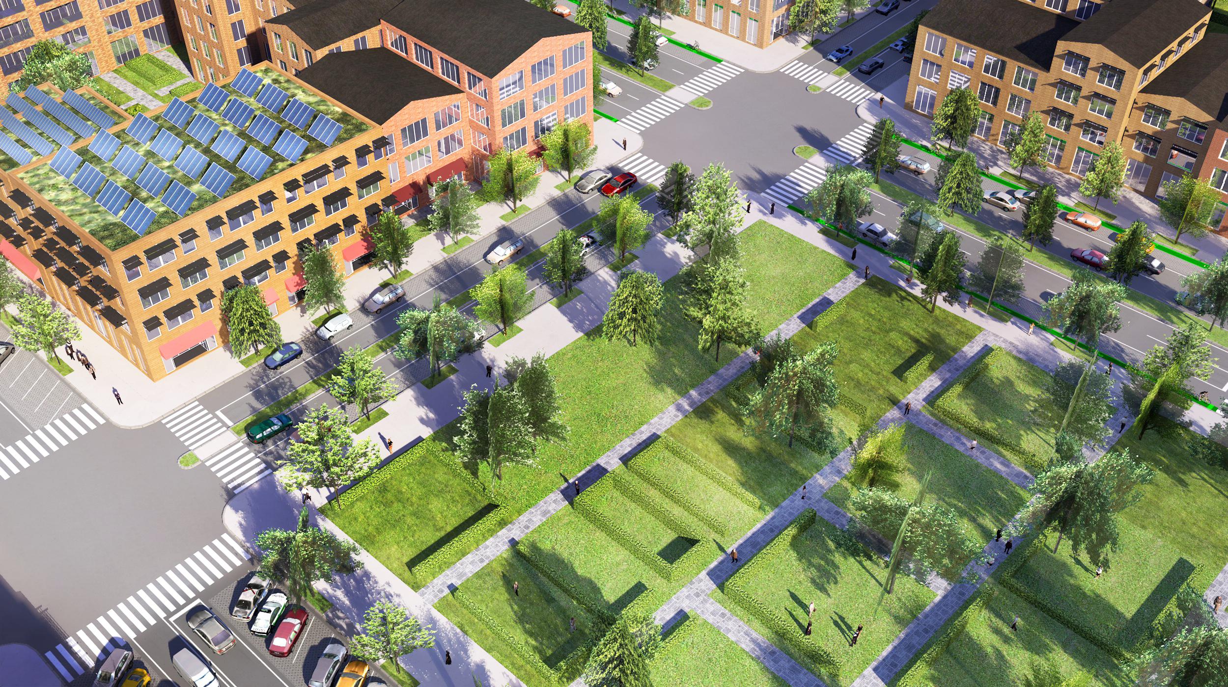 Rys. 2. Model miasta Redlands - wybrany fragment