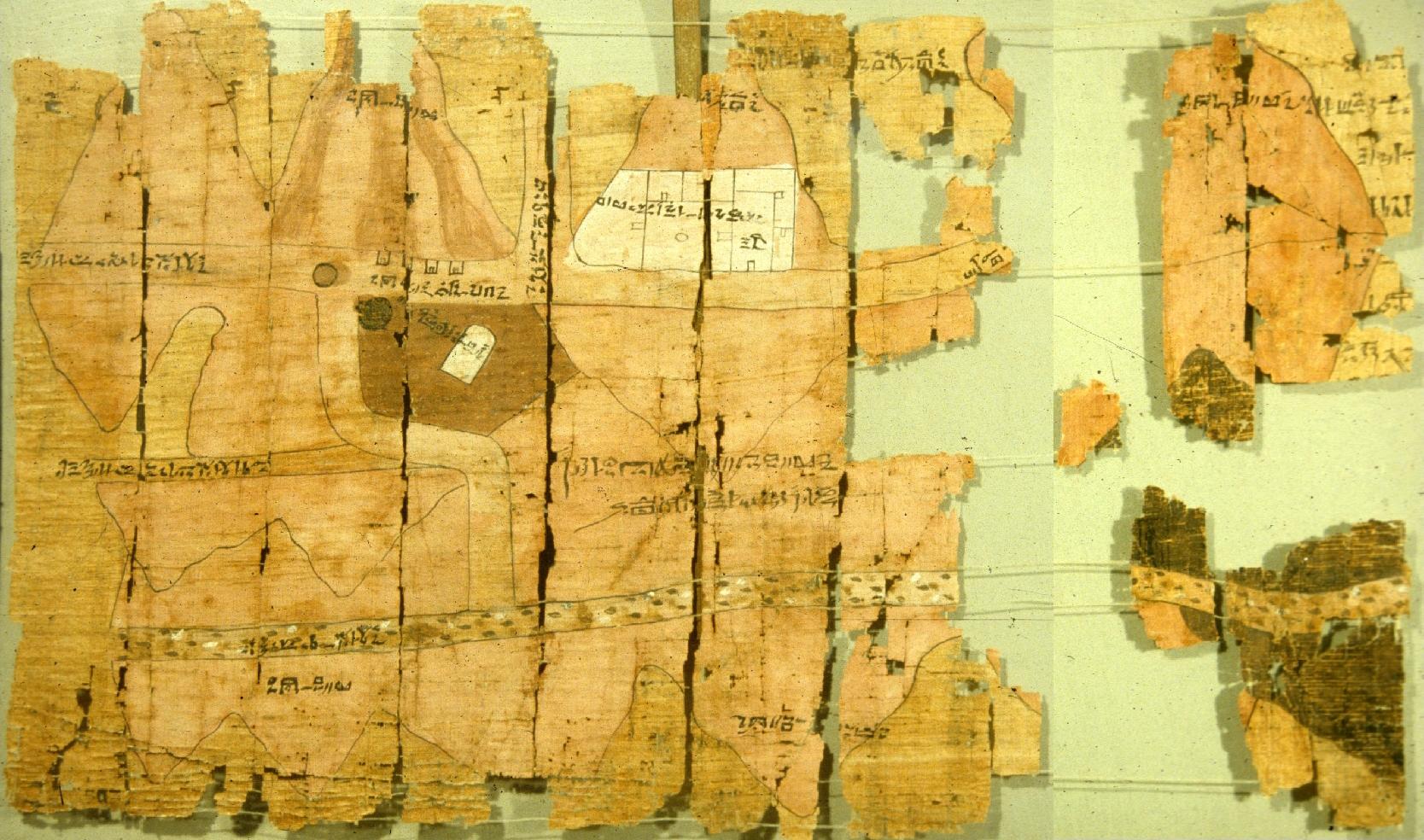 Rys. 3. Papirusowa mapa geologiczna Wadi Hammamat