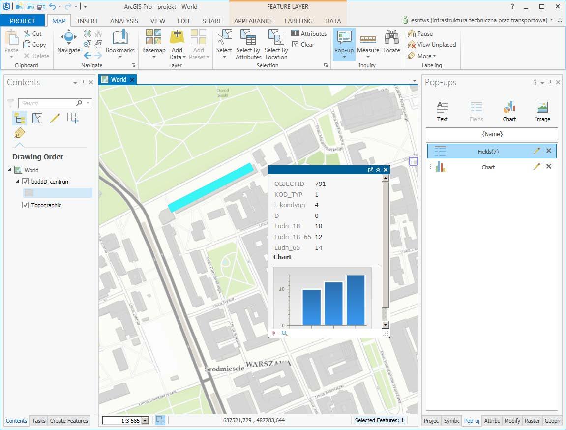 Rys. 4. Aplikacja z otwartym oknem identyfikacji i wykresem.
