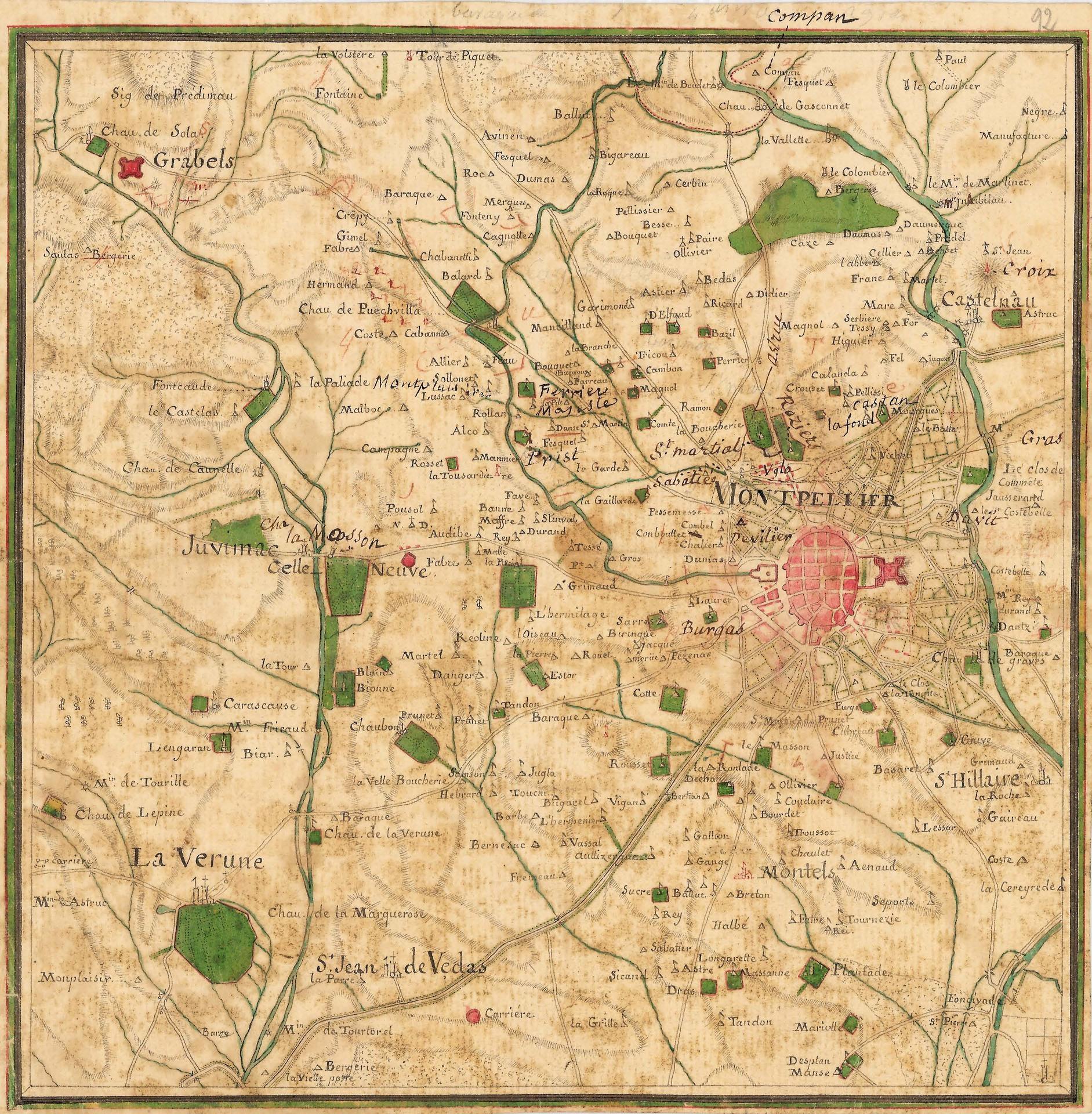 Rys. 4. Mapa Cassiniego (Carte géométrique de la France)