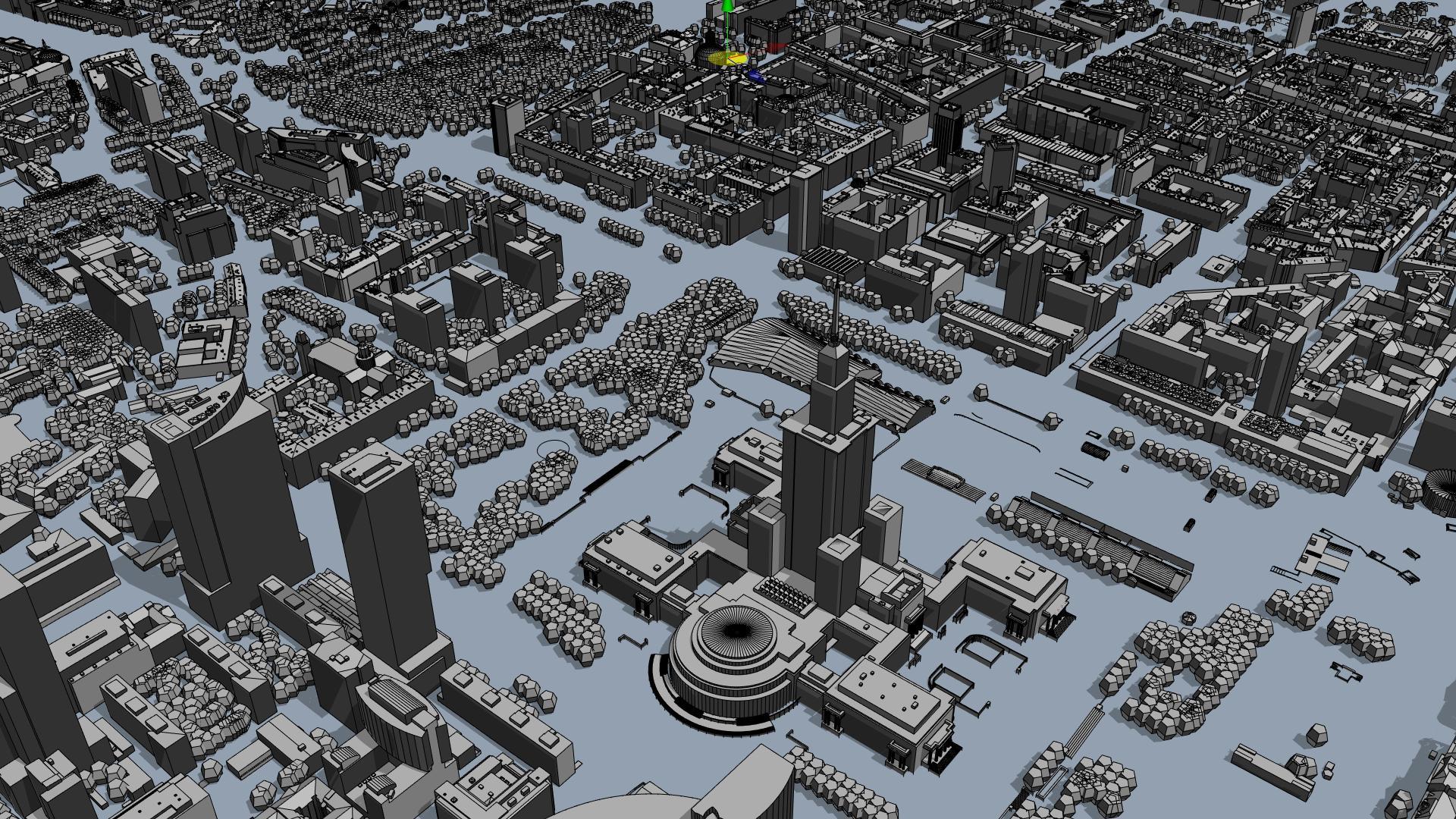 Rys. 4. Warszawa - widok modelu