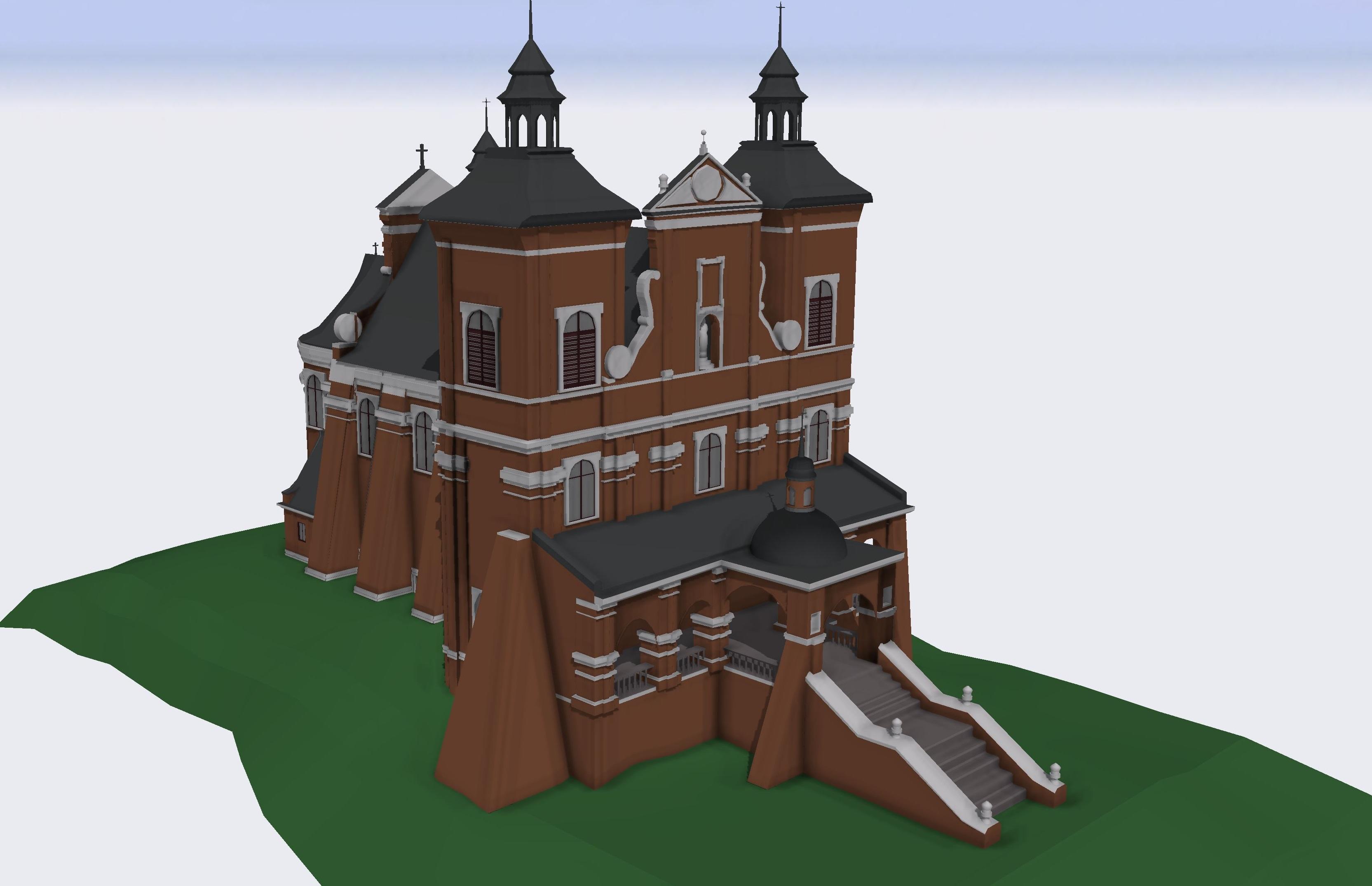 Rys. 5. Model zabytkowego kościoła Św. Antoniego Padewskiego w Radecznicy
