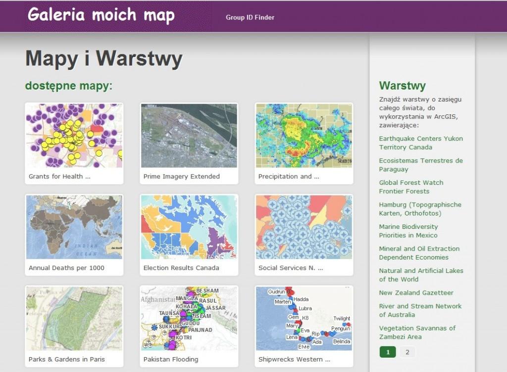 Rys. 1. Zacznij dostosowanie szablonu mapy od zmiany szaty graficznej i tytułu strony internetowej.