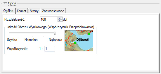 """Ryc. 4. Opcje eksportu do pdf - zakładka """"Ogólne""""."""
