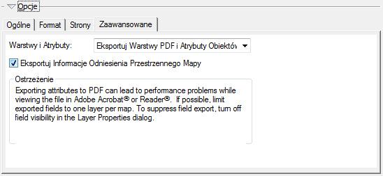 """Ryc. 6. Opcje eksportu do PDF - zakładka """"Zaawansowane""""."""