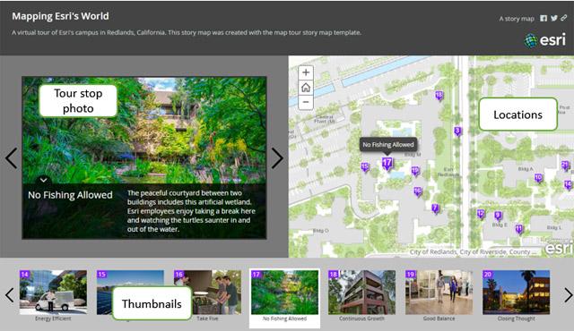Rys 2 Otwórz Map Tour na określonym przystanku