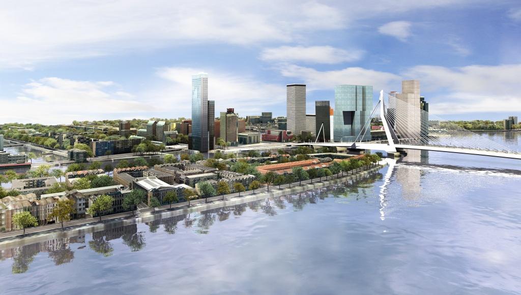 Rys. 1. Prezentacja modelu miasta Rotterdam - wybrany fragment.
