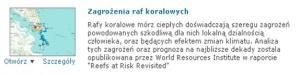 Rys. 1. Opis zakresu tematycznego aplikacji dotyczącej zagrożeń dla raf koralowych.