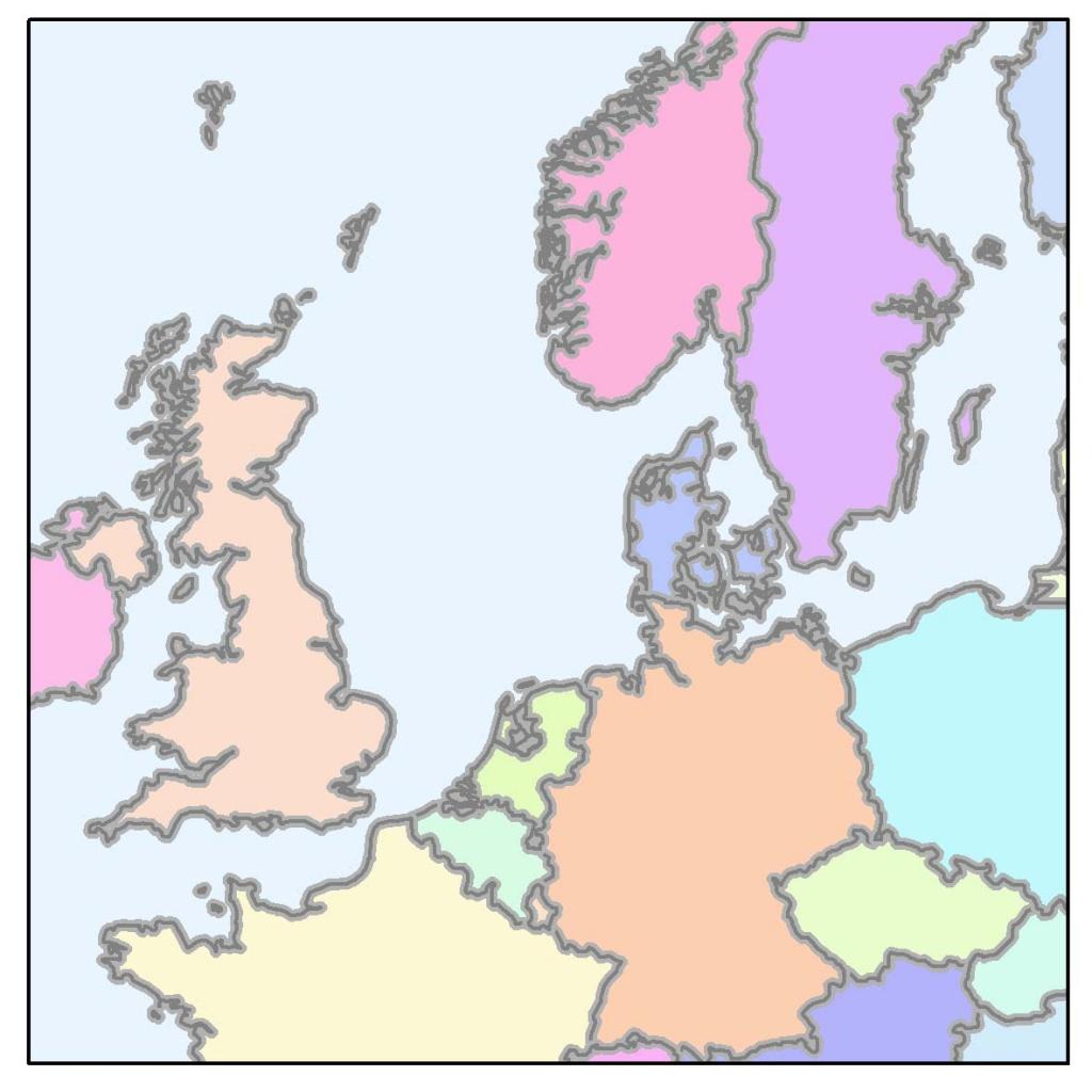 Rys. 2A. Zakrzywione (meandrujące) linie pozwalają określić, czy dane nie są zbyt szczegółowe w stosunku do docelowej skali mapy.