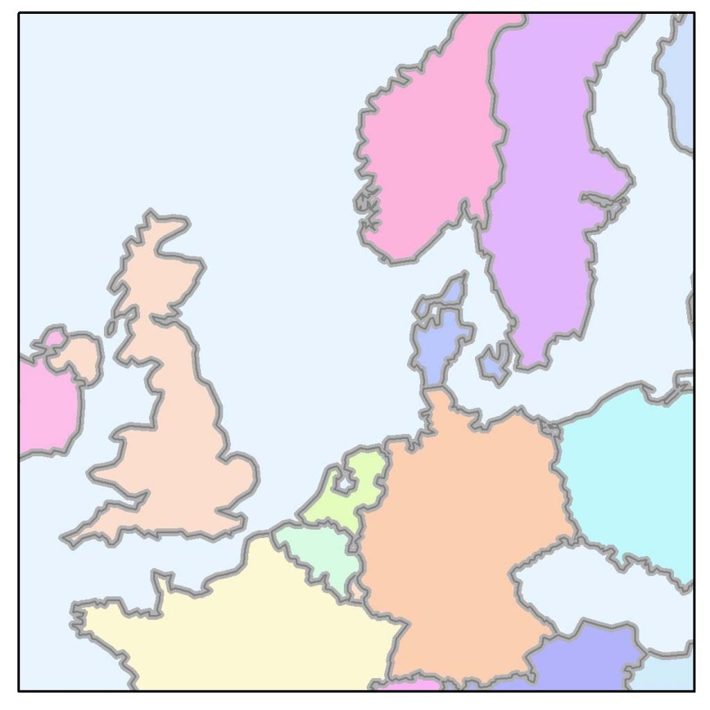 Rys. 2B. Przykład przedstawia lepsze rozwiązanie - dobór danych o odpowiednim stopniu generalizacji względem skali mapy.