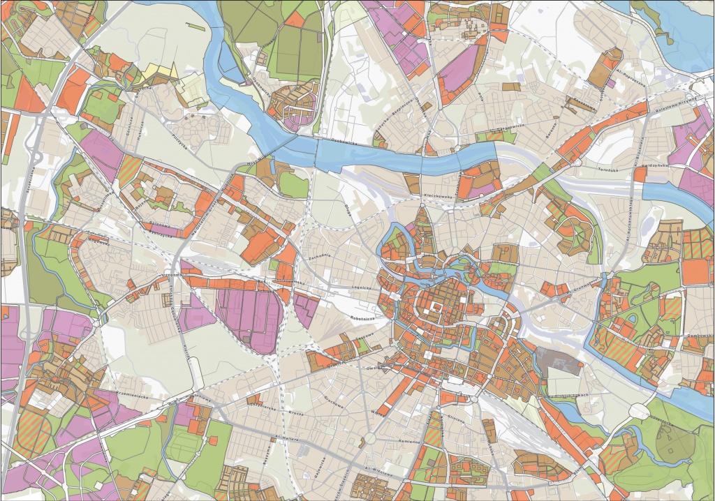 Rys. 2. Uproszczona klasyfikacja przeznaczenia terenu w planach miejscowych.