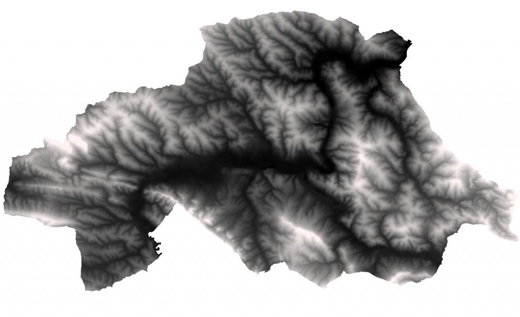 Rys. 1. Numeryczny model terenu powiatu strzyżowskiego