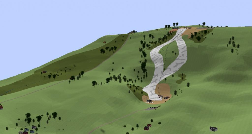 Rys. 4. Wizualizacja przykładowej trasy zjazdowej w aplikacji ArcScene
