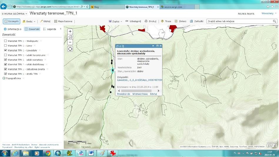 Mapa w Arcgis Online