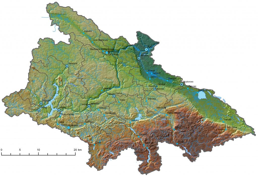analiza GIS na terenie Polski