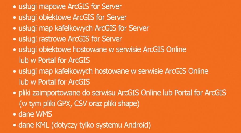 dane referencyjne w aplikacji Collector for ArcGIS
