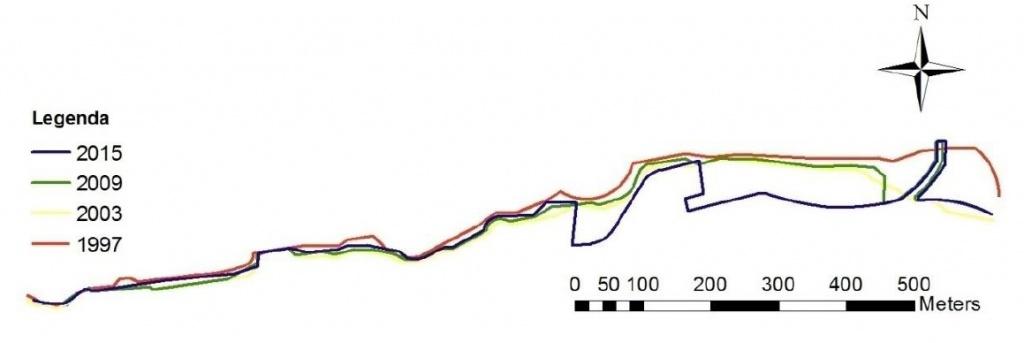 rys 4A_Porównanie fragmentu lini brzegowej część 1