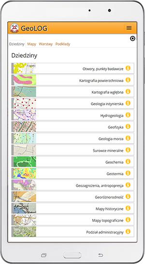 Rys.3. Lista zestawów map dziedzinowych.