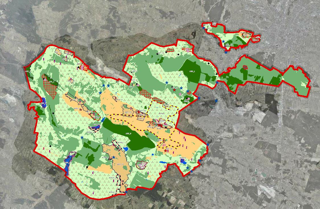 Rys. 5. Plansza planu ochrony Chęcińsko-Kieleckiego Parku Krajobrazowego.