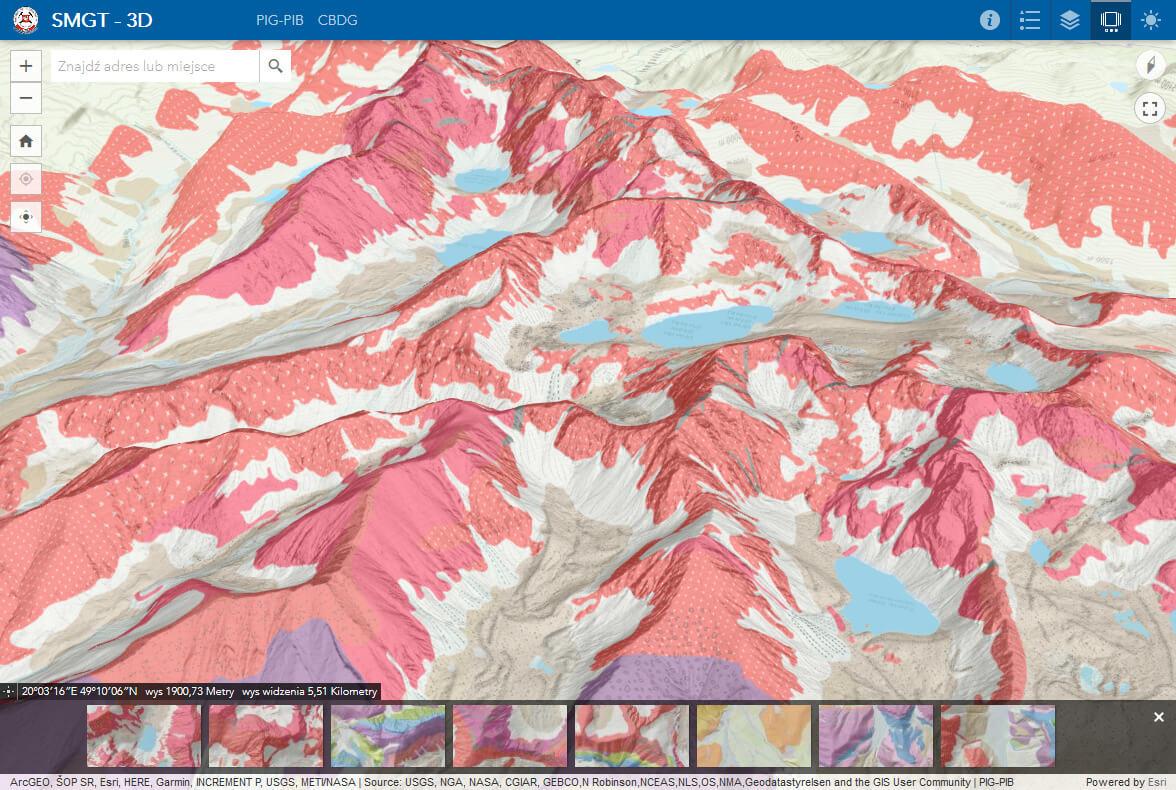 Rys. 4. Widok aplikacji 3D.