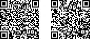 Rys. 4. (1) Po lewej stronie QR-Kod do aplikacji w języku angielskim; (2) Po prawie stronie QR-Kod do aplikacji w języku polskim.