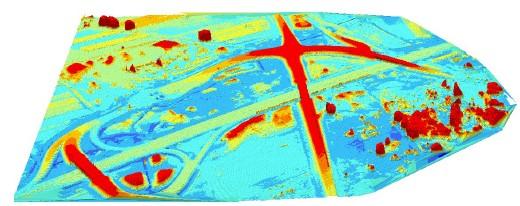 Ryc. 5. Wizualizacja 3D dla węzła Wiskitki, opracowana w programie Drone2Map.