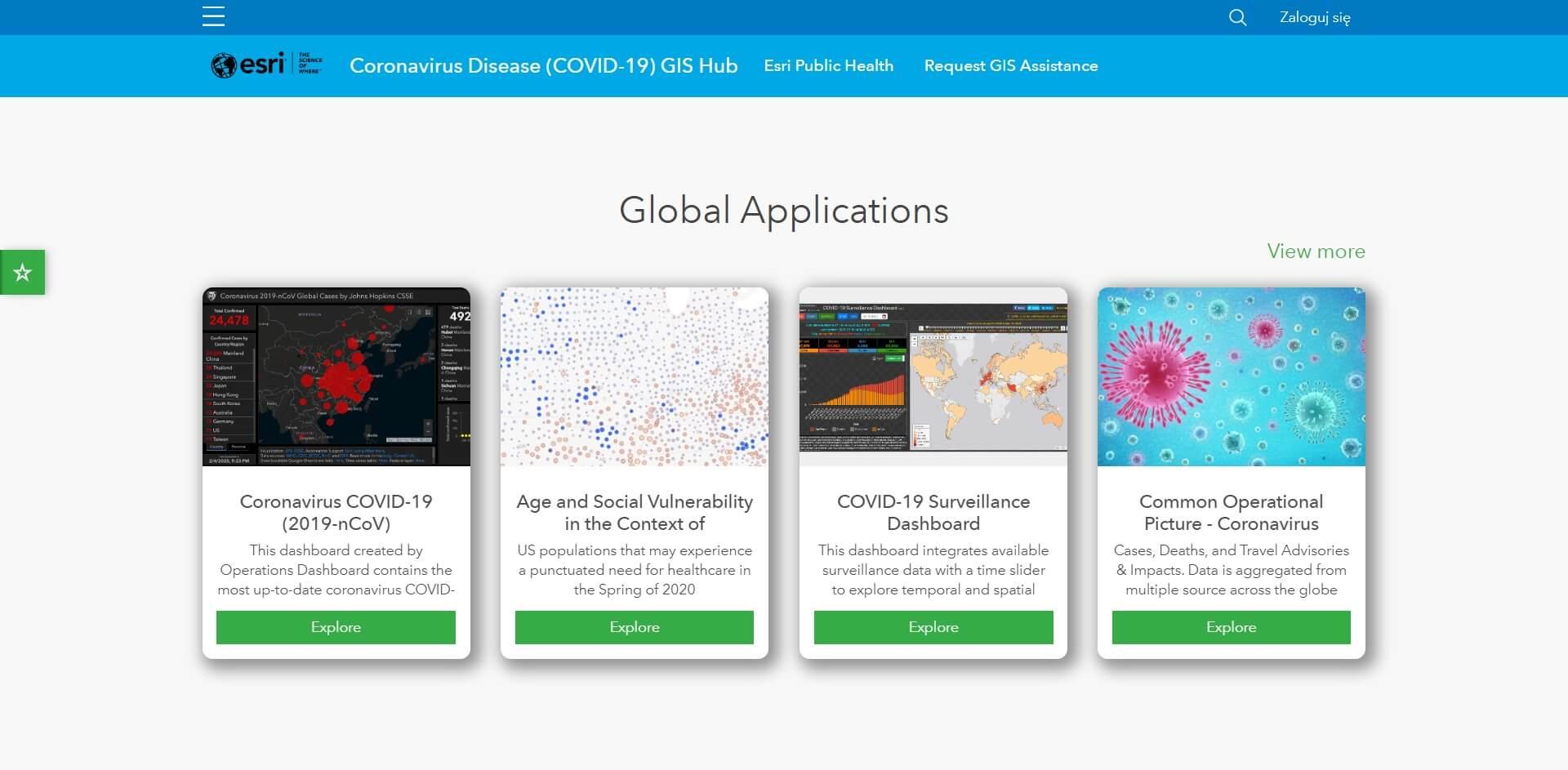 Rys1_COVID19 GIS Hub